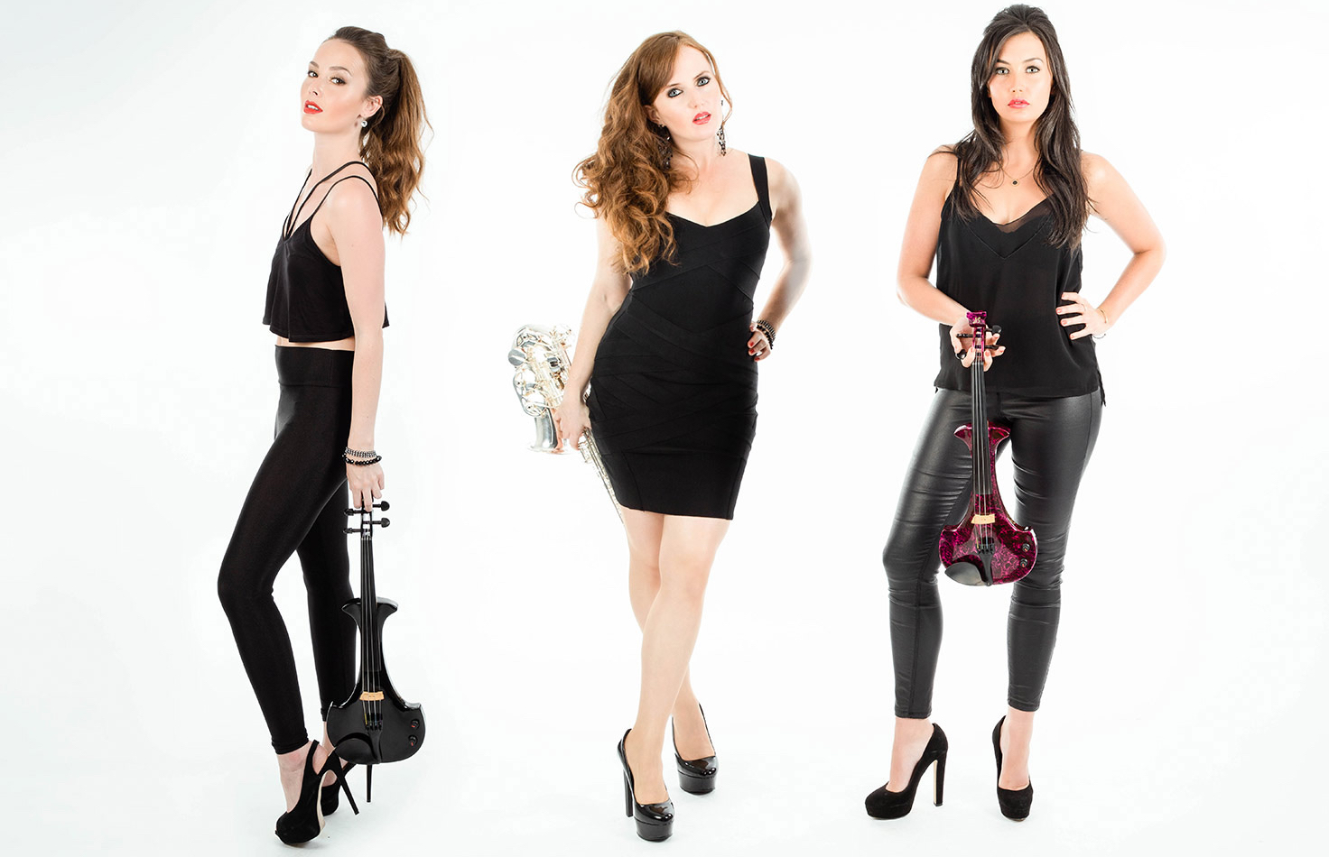 Electric String and saxophone player Trio Hire
