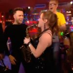 Female Saxophone Player with Olly Murs and Chris Evans on TFI Friday